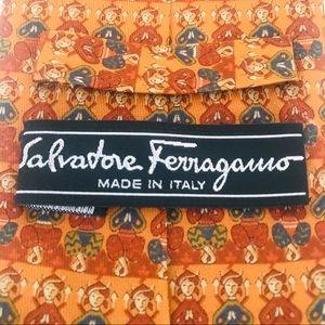 Salvatore Ferragamo Silk Tie: Yoga Pose Woman